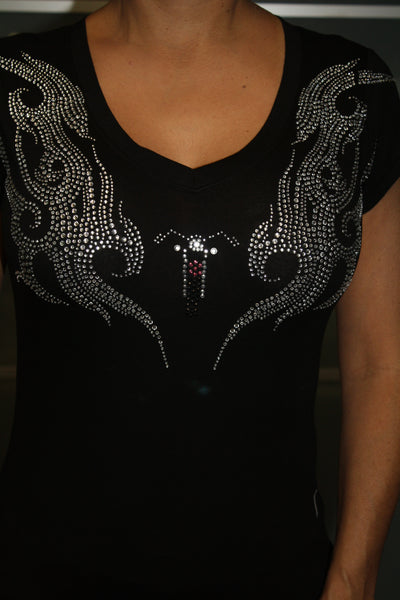 Bike Wings V-Neck Short Sleeve