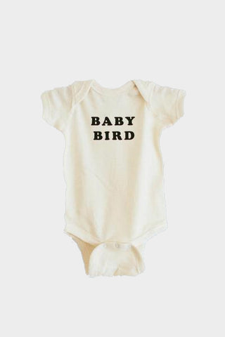 baby bird onesie natural the bee and fox
