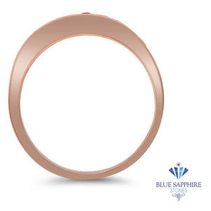 0.35ctw Round Pink Sapphire Ring in 14K Rose Gold