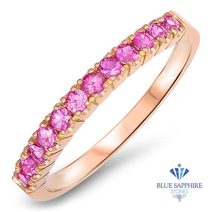 0.35ctw Round Pink Sapphire Ring in 18K Rose Gold
