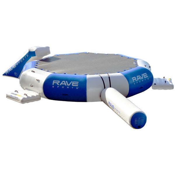 RAVE Sports Splash Zone Plus 16' with slide and log water trampoline for sale