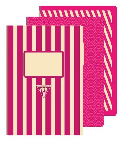Clairefontaine 1951 Back to Basics A5 Stapled Pink