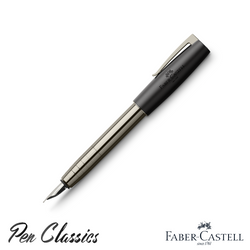 Faber-Castell Loom Fountain Pen Gunmetal Shiny M Nib