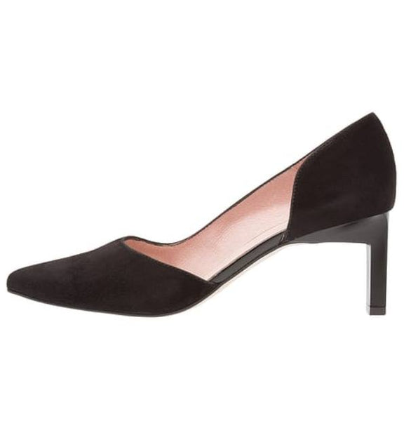 ZIGN Leather Black Pointed Heels Made in Spain