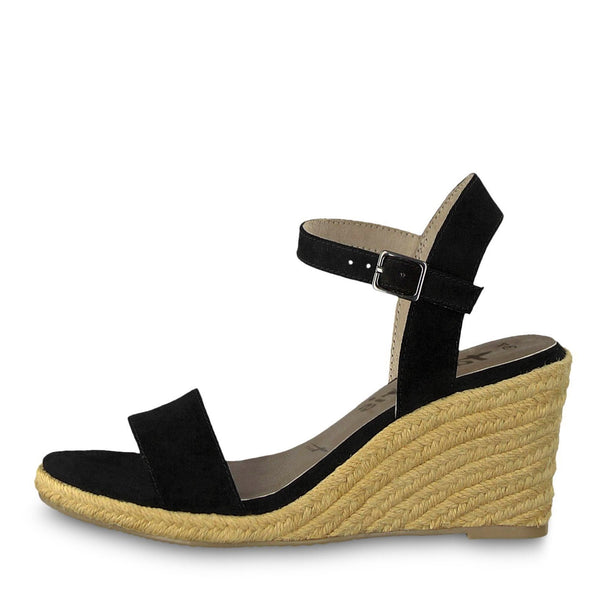 TAMARIS Black Wedges