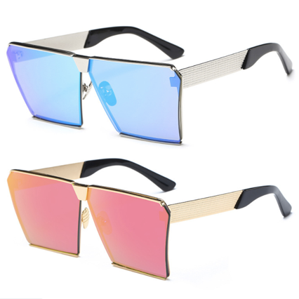 Glam horizon Square Retro Oversize Sunglasses - Iconic Trendz Boutique