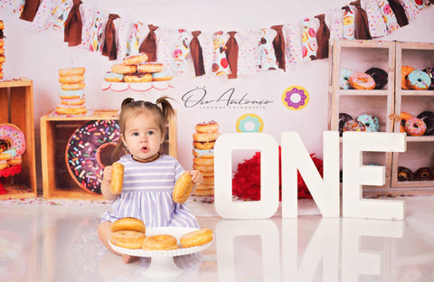 Kate Chocolate Donut Banners Children Backdrop Design by Shutter Swan Studios