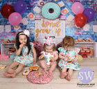 Kate White Door Balloons Banner Do Nut Grow Up Birthday Children Backdrop Design by Shutter Swan Studios