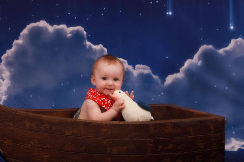 Kate Night Sky with Moon and Cloud Children Backdrop for Photography