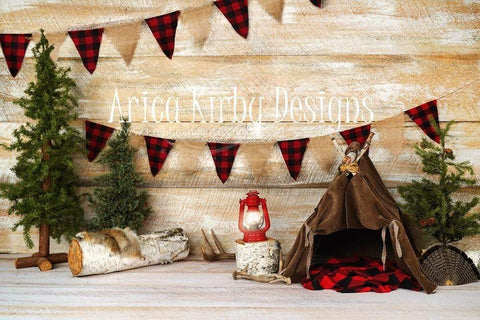 Kate Buffalo Plaid Adventures Backdrops Designed by Arica Kirby