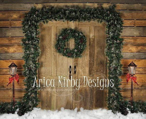 Kate Holiday Door Christmas Wreath designed by Arica Kirby