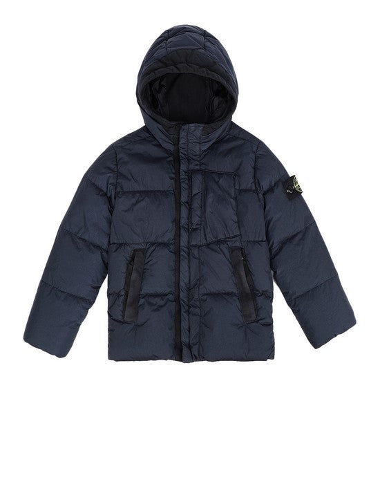 Stone Island Junior CRINKLE REPS NY DOWN JACKET KIDS Jacket - WHAT A PETIT