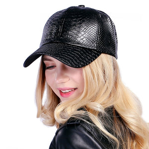 Fashion Baseball Cap for girls, Luxurious leather look, fine trimming and adjustable clasp for a perfect fit -   - Magneta Brand