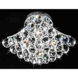 Indoor 4-Light Chrome And Crystal Flushmount Chandelier -   - Magneta Brand