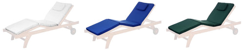 Chaise Lounger Cushion (white, blue, green) -  Outdoor - Magneta Brand