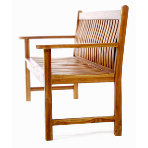 Teak Wave Bench -  Outdoor - Magneta Brand