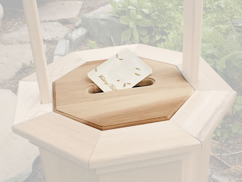 Slotted Gift Lid for Large Wishing Well -  Outdoor - Magneta Brand