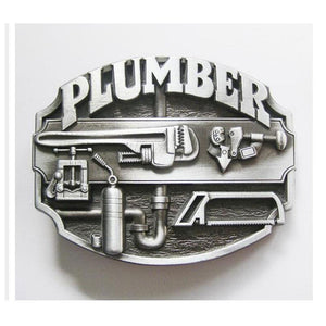 Stylish and humorous Plumber Belt Buckle - I take pride in my job -   - Magneta Brand