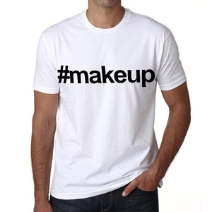 Makeup Hashtag Mens Short Sleeve Round Neck T-Shirt 00076