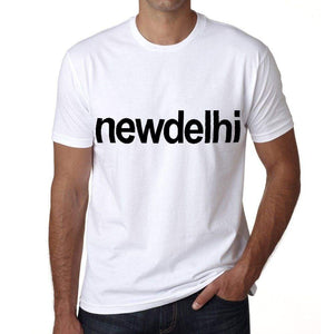 New Delhi Mens Short Sleeve Round Neck T-Shirt 00047