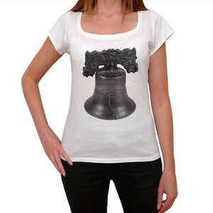 The Liberty Bell Womens Short Sleeve Round Neck T-Shirt 00111