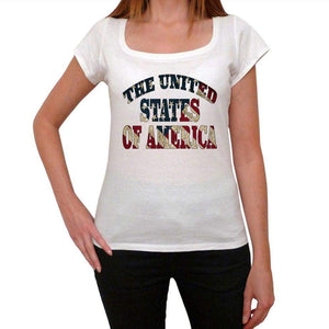 The United States Od America Womens Short Sleeve Round Neck T-Shirt 00111
