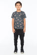 CHERRY S/S ROUND NECK POCKET T CHARCOAL - Zuttion