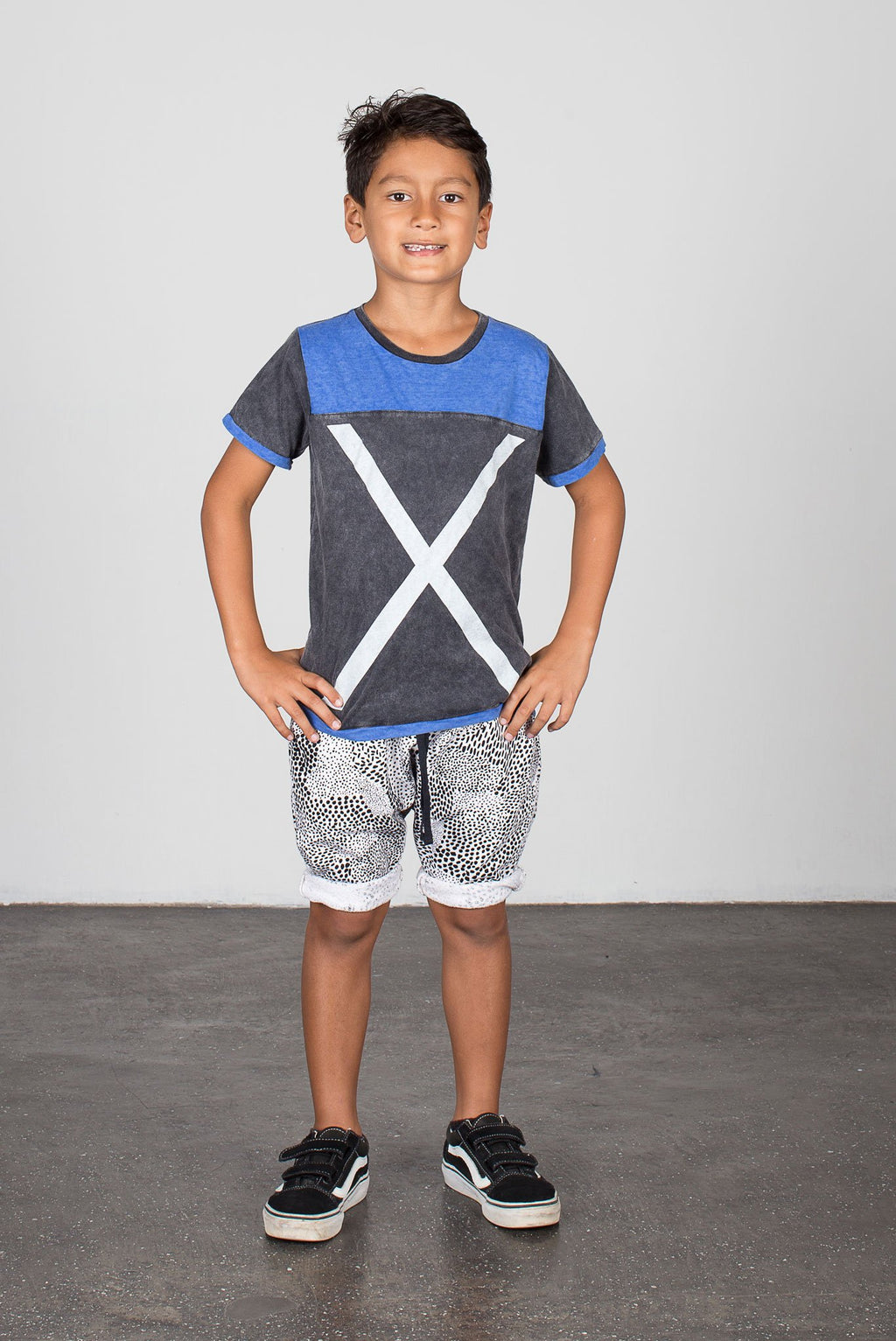 Abstract Low Crotch Track Short Black/White - Zuttion