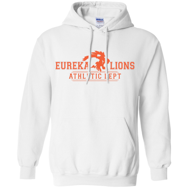 "2017 LIONS ""ATHLETIC DEPT-2-ORNG"" Pullover Hoodie 8 oz"