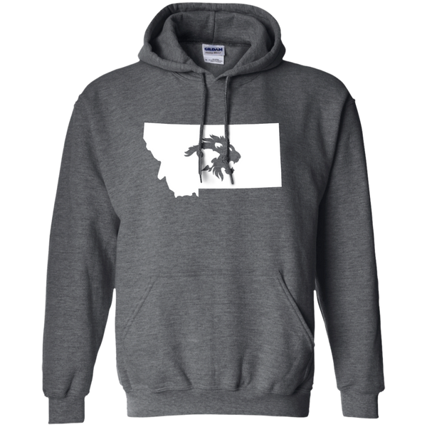 """STATE PRIDE"" White Logo - Pullover Hoodie 8 oz"