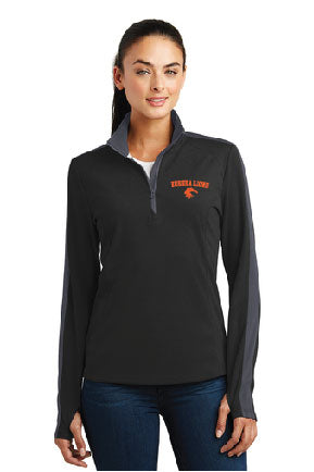 Lady Lions Textured Colorblock 1/4-Zip Pullover