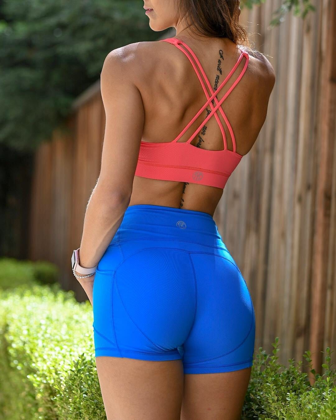 Resilient Heart Booty Shorts- Electric Blue