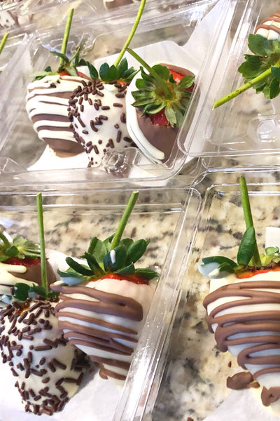 Fire and Floral Chocolate Covered Strawberries - VineLily Moments
