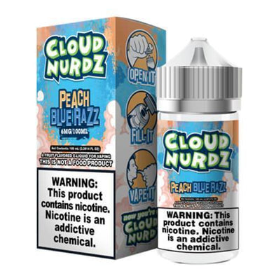 Peach Blue Razz - Cloud Nurdz 100ml - Luxor Distro