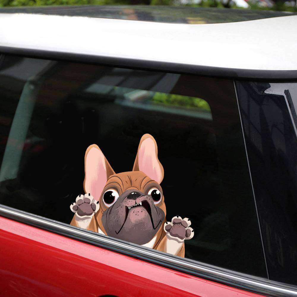 Stickers 3D -  - Lovely bouledogue