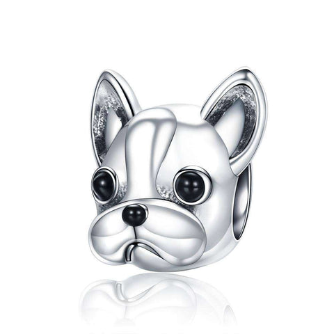 Image of Charme en argent -  - Lovely bouledogue