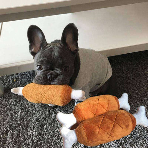 Image of Cuisse de poulet en peluche -  - Lovely bouledogue