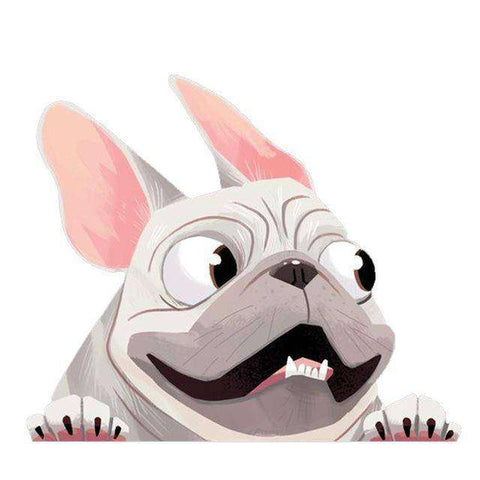 Image of Stickers 3D - Blanc - Lovely bouledogue
