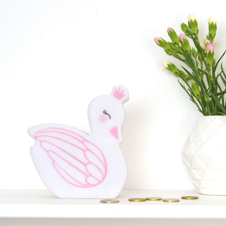 Swan Money Box by A Little Lovely Company - minifili