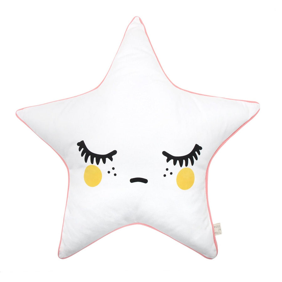 Sleepy Dolly Star Cushion Pink Piping by Rose in April - minifili