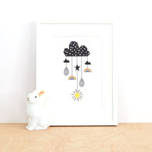 Weather Mobile Print by Ingrid Petrie Design - minifili
