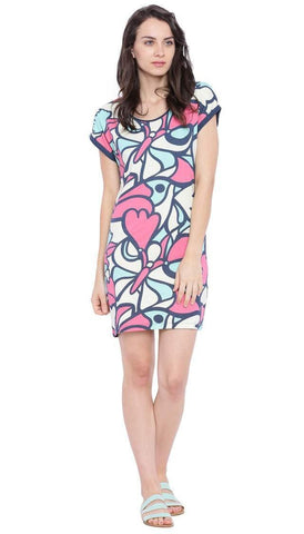 Chumbak India Dresses Bird And Butterfly T-Shirt Dress