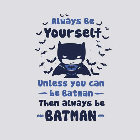 DC Comic T-SHIRT BE YOURSELF DC COMIC Printed Tshirt