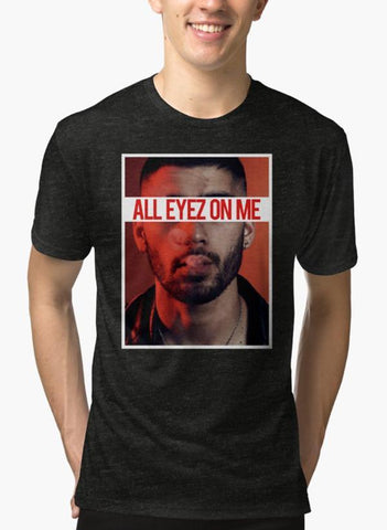 Imtiaz Zuhaib T-SHIRT All Eyes On Me Black Malange T-shirt
