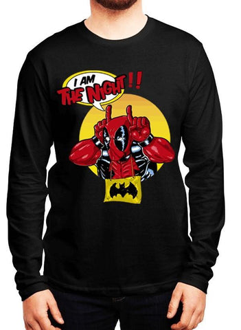 M Nidal Khan T-shirt SMALL / Black Deadpool Full Sleeves T-shirt