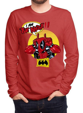 M Nidal Khan T-shirt SMALL / Red Deadpool Full Sleeves T-shirt