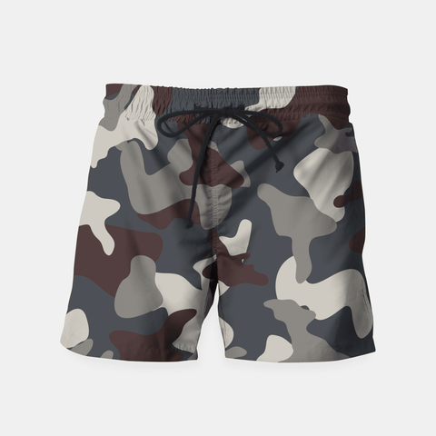 Maria Shorts Grey Blue Army Camouflage Pattern Shorts