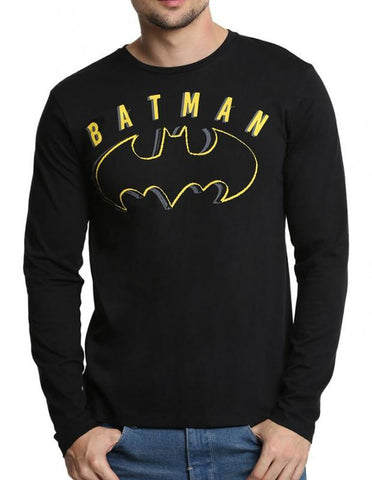 Ramsha T-SHIRT Batman Black Full Sleeves Men T-Shirt