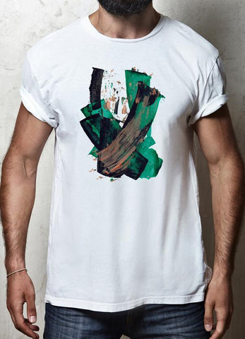 ZAINAB ABBAS T-SHIRT BRUSH STROKE WHITE T-SHIRT
