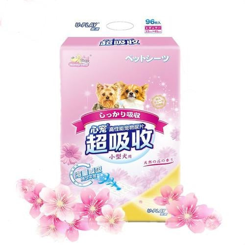Honey Care U-Play Flora Scented Pee Sheets (96pcs/48pcs/24pcs)